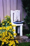 BIRD BATH WITH TOWEL