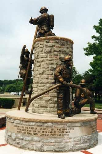 THE ILLINOIS STATE FIREFIGHTERS MEMORIAL by neil brodin